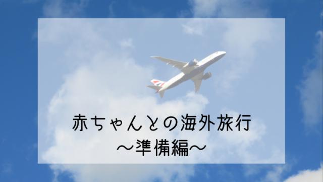 飛んでいる飛行機「赤ちゃんとの海外旅行準備編」