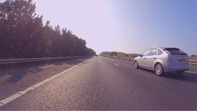 車から撮影した道路
