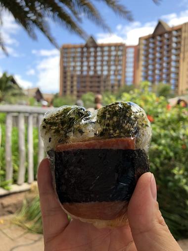 ミッキーシェイプのスパム寿司