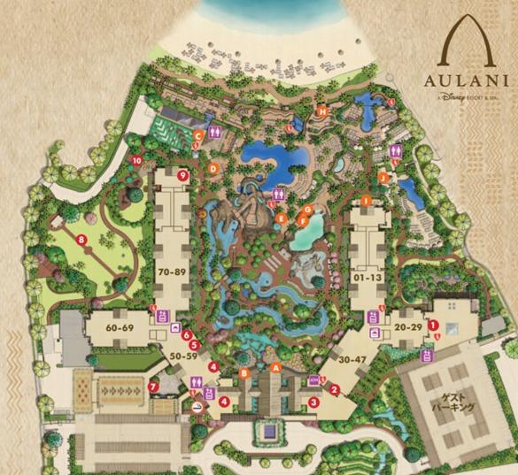 アウラニマップ全体図